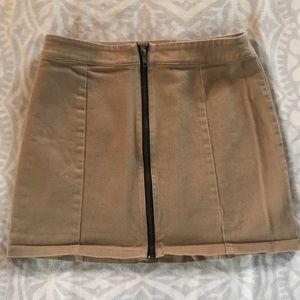 Tan jean skirt